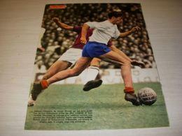 FOOTBALL COUPURE PRESSE FM122 COULEUR 32x24 1969 Joseph BONNEL OM MARSEILLE - Fussball