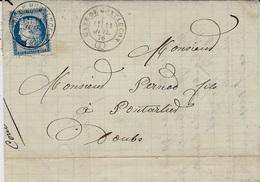 1876- Lettre De GARE DE LONTLUCON ( 3 ) Cad T17 Sur N°60 - Postmark Collection (Covers)