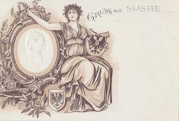 Gruss Aus SAAS-FEE  ( Carte En Léger Relief ) - Andere