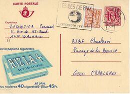 Publibel - 2789 F - RIZLA + AUTOMATIQUE - WALHAIN - NAMUR - CHARLEROI - FLAMME ILES DE PAIX - 2 DECEMBRE 1982. - Ganzsachen
