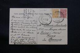 RUSSIE - Affranchissement De Capatob Sur Carte Postale Pour La France En 1910 - L 68678 - Storia Postale