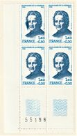 Très Rare Bloque De 4 Timbres Jean-marie De La Mennais Avec Erreur D'impression Sur L'un Des Timbres - Francia
