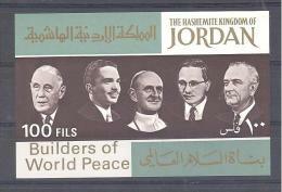 Michel # Block 39  Builders Of World Peace - Jordanie