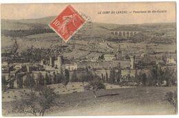 MILITARIA AVEYRON LA CAVALERIE : CAMP MILITAIRE DU LARZAC PANORAMA DE STE EULALIE - Circulé En 1908 Vers BEZIERS - La Cavalerie