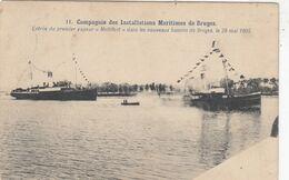 BRUGGE / HAVEN /  BINNENVAREN VAN DE EERSTE STOOMBOOT  1905 - Brugge