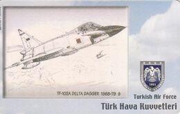 Turkey, TR-C-179, Turkish Air Force, TF-102A Delta Dagger 1968-79 (9), Airplane, 2 Scans. - Türkei