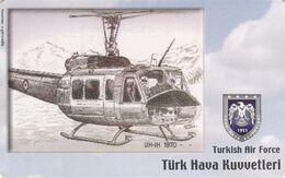 Turkey, TR-C-180, Turkish Air Force, UH-1H 1970-, Airplane, 2 Scans. - Türkei