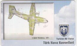 Turkey, TR-C-182, Turkish Air Force, C-160D Transall 1971-, Airplane, 2 Scans. - Türkei