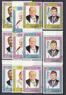 Yemen - Kennedy - Luther King - Churchill - Papes -  Michel 543 A / 51 A Oblitéré - Drapeaux - - Kennedy (John F.)