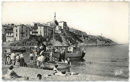 CPSM BANYULS SUR MER - Cap Doune - Ed. S.N.E. NARBO N°159 - Belle Animation - Banyuls Sur Mer