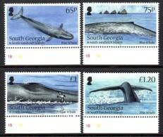 South Georgia Georgie Du Sud And Sandwich 554/57 Baleine Bleue, Oiseau, Puffin - Balene