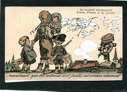 CPA - Illustration Maréchaux - EN ALSACE RECONQUISE - Maintenant Que Les Corbeaux Sont Partis, Nos Oiseaux Reviennent - Guerra 1914-18