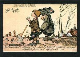 CPA - Illustration Maréchaux - EN ALSACE RECONQUISE - Les Vandales. Pleure Pas! Leurs Vilains Oiseaux Seront Chassés - Guerra 1914-18