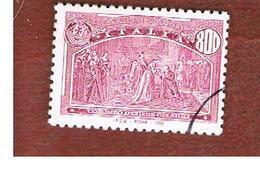 ITALIA REPUBBLICA  - UN. 2027  -  1992  GENOVA 92:  AMERICA DISCOVERY ( COLOMBO OTTIENE GLI AIUTI )  DA BF   - USATO - 6. 1946-.. Repubblica