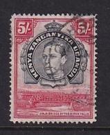 K.U.T.: 1938/54   KGVI    SG148a    5/-   [Perf: 14]      Used - Kenya, Uganda & Tanganyika