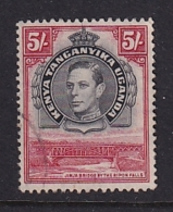 K.U.T.: 1938/54   KGVI    SG148b    5/-  [Perf: 13¼ X 13¾]   Used - Kenya, Uganda & Tanganyika