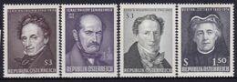 Austria 1965 Famous People Sc 746-49 Mint Never Hinged - 2001-10 Nuevos & Fijasellos