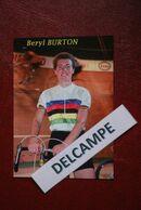CYCLISME: CYCLISTE : BERYL BURTON - Cyclisme