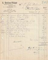 Beauraing 1933, O. Blondiaux - Philippot / Menuisier Entrepreneur, Marchand De Bois - Ambachten