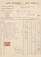 Beauraing 1933 , Louis Bourgeois Et Jean Denis / Travaux Publics - Ambachten