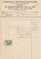 Beauraing 1932 , Jh Dozot - Detal Père Et Fils / Dépositaires Cristal Chaudfontaine - Ambachten