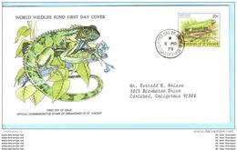 ST. VINCENT GRENADINES FDC 169 Tiere WWF (15125) - St.Vincent E Grenadine