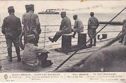 MILITARIA  GUERRE 1914 15  DANS LES BALKANS  UNE VUE GAILLARD D'AVANT LA MAFALDA    CPA  CIRCULEE - Guerre 1914-18