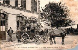 Carte 1911 PLOUNERIN / LA GARE / DEPART DU COURRIER DE PLESTIN - Andere Gemeenten