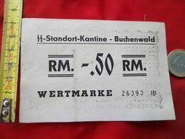 Buchenwald-ticket De Cantine SS - 1939-45