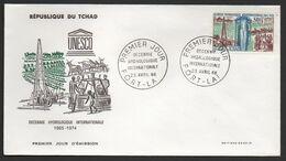 TCHAD ( F D C ) :  BELLE   F.D.C  DU   23  AVRIL  1968 , A  VOIR . P T - Tchad (1960-...)
