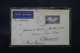 LIBAN - Enveloppe De Beyrouth Pour La France Par Avion En 1938 Via Palestine  - L 68729 - Great Lebanon (1924-1945)