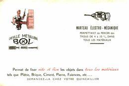 """Che B/Buvard Cheville Métallique """"Bol"""" (N= 1) - Carte Assorbenti"""