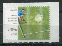 RC 18268 FRANCE N° 128 / 4080 COUPE DU MONDE DE RUGBY AUTOADHÉSIF COTE 10,00€ TB - France