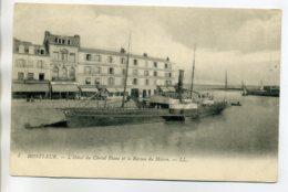 14 HONFLEUR L'Hotel Du Cheval Blanc Et Le Bateau Du Havre Quai Port 1910   /D04-2017 - Honfleur