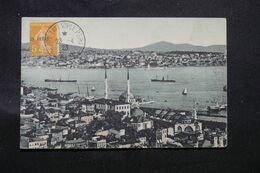 LEVANT FRANÇAIS  - Affranchissement Semeuse Surchargé De Constantinople Sur Carte Postale En 1923 - L 68737 - Lettres & Documents