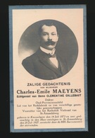 DOKTER - CHARLES MAEYENS  - KNESSELARE 1873 - ST.AMANDSBERG 1927 - Avvisi Di Necrologio