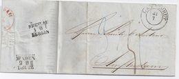 Preussen NL 1853, K2 Landeshut Auf Porto Brief M. Bahnpost Breslau Berlin. #1608 - Preussen