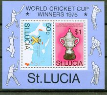 St. Lucia 1976 Bf 8 Cricket Mnh - St.Lucia (1979-...)