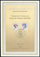 BRD - 1989 ETB 22/1989 # - Mi 1427 / 1428 - 180-250Pf Frauen IX - FDC: Panes