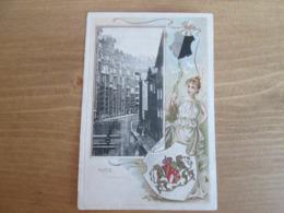 Metz Gerbergraben . Carte Gauffree . Dos 1900 - Metz