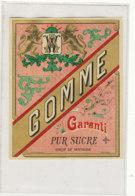 AN 1342  / ETIQUETTE  - GOMME  GARANTI PUR SUCRE - Other