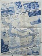 Prospectus Touristique (+/- 1930) S.A. FLANDRIA  ANTWERPEN - Anvers - Le Port - Plan -  Visite Du Roi Léopold III  (4837 - Dépliants Turistici