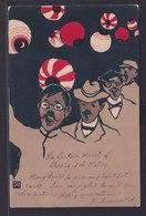 Ansichtskarte Jugendstil Japan Künstlerkarte Handgemalt Nach Berlin - Ansichtskarten