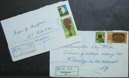 New Zealand - Registered Cover Lot (2) 1971 Butterflies Maori Art Moturoa Sydenham - Storia Postale
