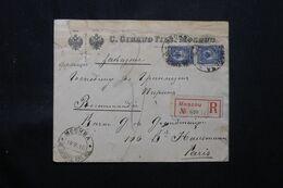 RUSSIE.- Enveloppe Commerciale En Recommandé De Moscou En 1915 Pour Paris - L 68768 - Storia Postale