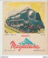 BISCOTTES  MAGDELEINE   --  TRAIN  N° 5   --- LOCOMOTIVE A VAPEUR - Biscotti