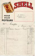 E Bénac  à Barran 1930... - Facture Shell Huile Moteurs - Cars
