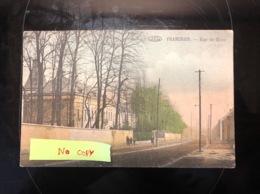 Frameries Rue De Mons Top Rare Couleur Vpf - Frameries