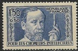 France 1936 Sc#B53  1fr50+0.50 Pasteur Charity MH    2016 Scott Value $20 - Ongebruikt