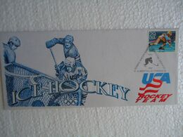 UNITED STATES USA  FDC  OLYMPIC ALBERTVILLE 1992 ICE HOCKEY - Invierno 1992: Albertville